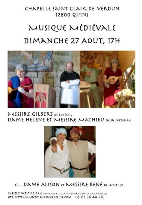 Poster musique le 27 Aout